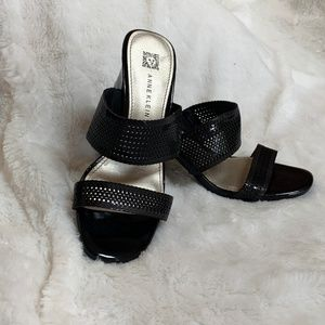 Black Anne Klein Slide Sandal